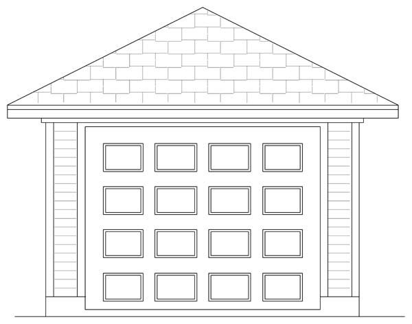 Traditional 1 Car Garage Plan 69902 Front Elevation