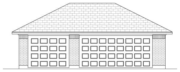Traditional 3 Car Garage Plan 69905 Front Elevation