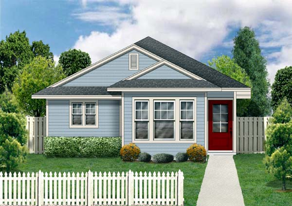 Craftsman House Plan 69909 with 3 Beds, 2 Baths Front Elevation