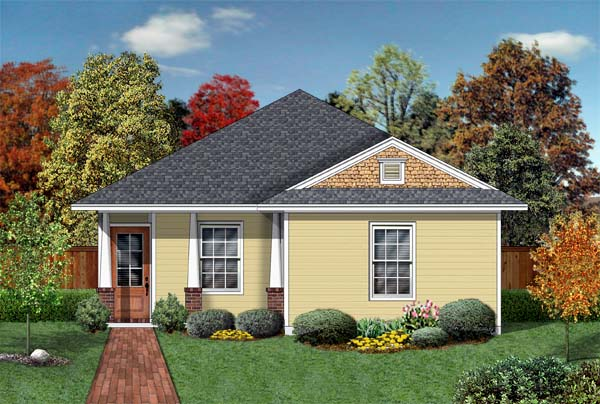 Craftsman House Plan 69910 with 3 Beds, 2 Baths Front Elevation