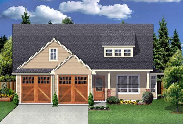 Craftsman House Plan 69912 with 3 Beds, 2 Baths, 2 Car Garage Front Elevation