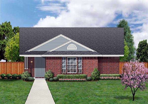 Craftsman House Plan 69913 with 4 Beds, 2 Baths Front Elevation