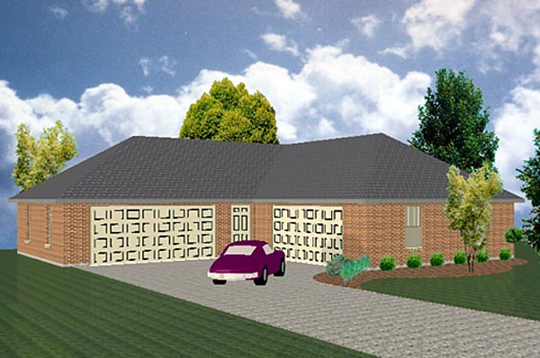 5 Car Garage Plan 69917 Front Elevation