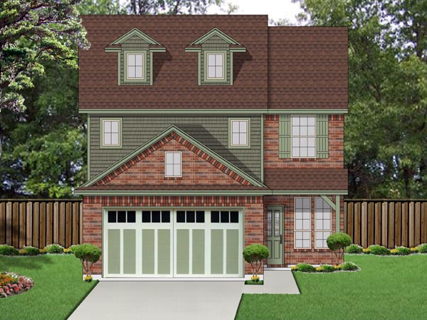 Cottage, Craftsman House Plan 69974 with 3 Beds, 3 Baths, 2 Car Garage Elevation