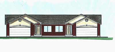 Traditional Multi-Family Plan 70457 with 8 Beds, 8 Baths, 4 Car Garage Elevation
