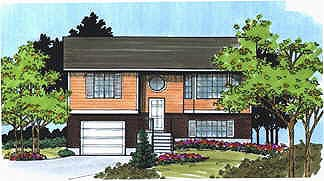 Retro, Traditional House Plan 70465 with 2 Beds, 1 Baths, 1 Car Garage Elevation