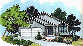 Traditional House Plan 70528 with 3 Beds, 1 Baths, 2 Car Garage Elevation