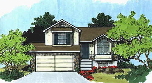 Traditional House Plan 70587 with 2 Beds, 1 Baths, 2 Car Garage Elevation
