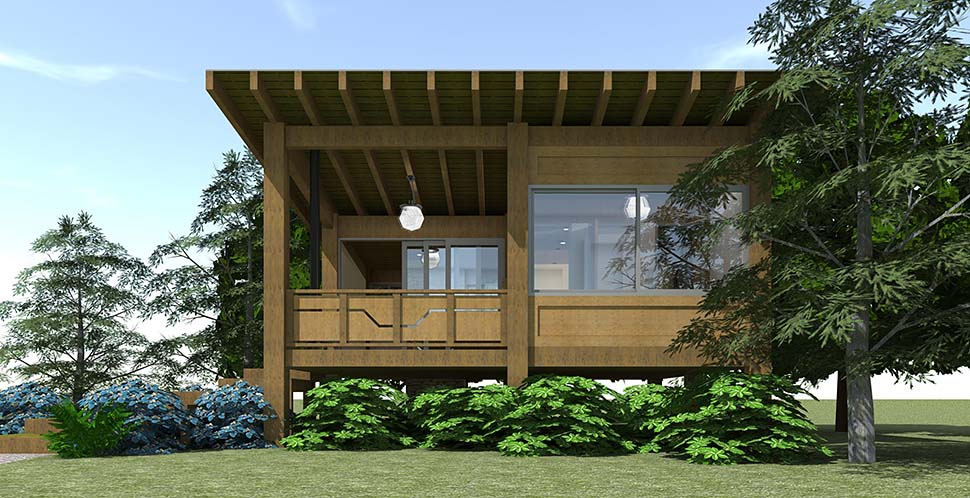 Cabin House Plan 70800 with 1 Beds, 1 Baths Picture 1