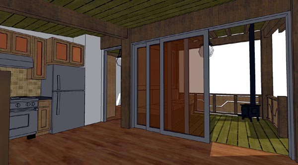 Cabin House Plan 70800 with 1 Beds, 1 Baths Picture 3