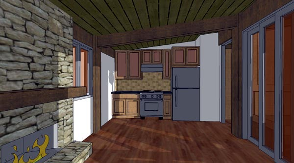 Cabin House Plan 70800 with 1 Beds, 1 Baths Picture 4