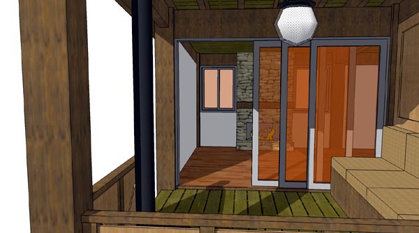 Cabin House Plan 70800 with 1 Beds, 1 Baths Picture 6