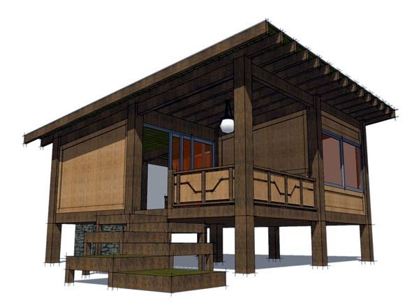 Cabin House Plan 70800 with 1 Beds, 1 Baths Picture 7