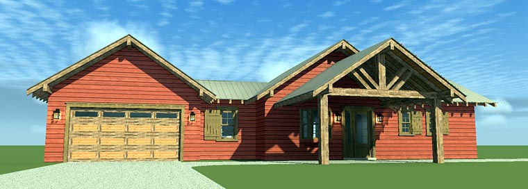 House Plan 70810 with 3 Beds, 4 Baths, 2 Car Garage Picture 3
