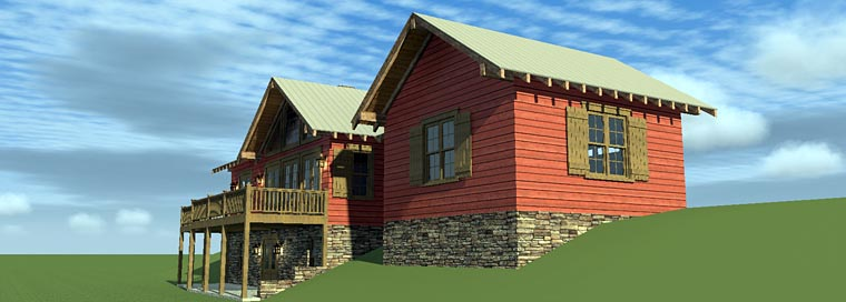 House Plan 70810 with 3 Beds, 4 Baths, 2 Car Garage Picture 5