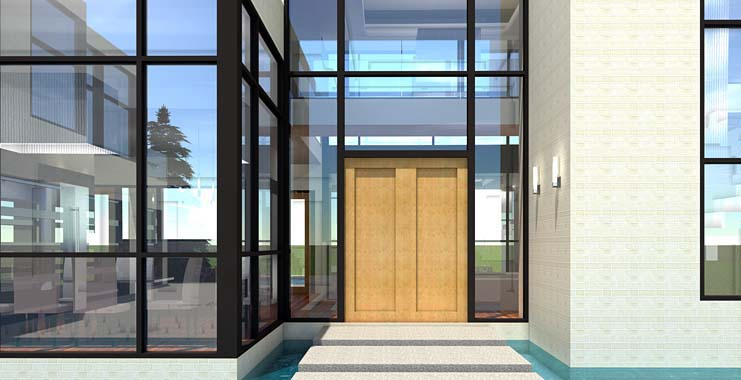 Modern House Plan 70819 with 5 Beds, 5 Baths, 3 Car Garage Picture 1