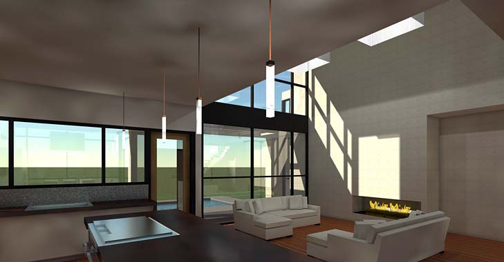 Modern House Plan 70819 with 5 Beds, 5 Baths, 3 Car Garage Picture 2