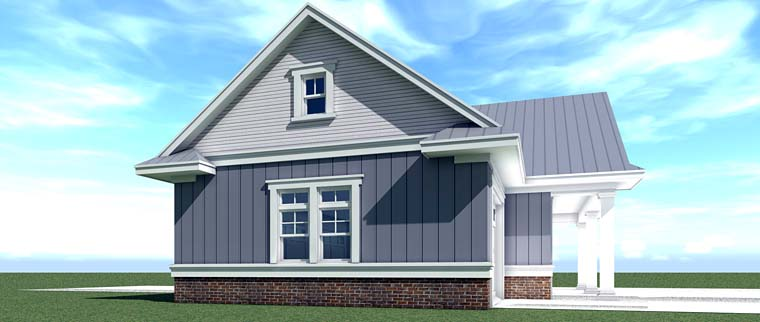 Country, Farmhouse, Southern, Traditional 4 Car Garage Plan 70832 Picture 1