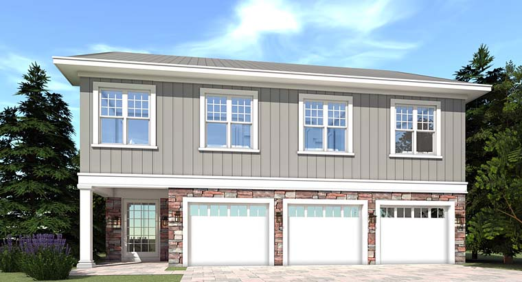 Farmhouse, Traditional House Plan 70833 with 5 Beds, 4 Baths, 3 Car Garage Elevation