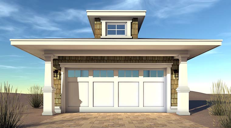 Coastal, Craftsman 2 Car Garage Plan 70834 Elevation