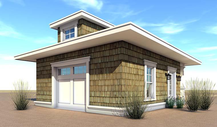 Coastal, Craftsman 2 Car Garage Plan 70834 Rear Elevation