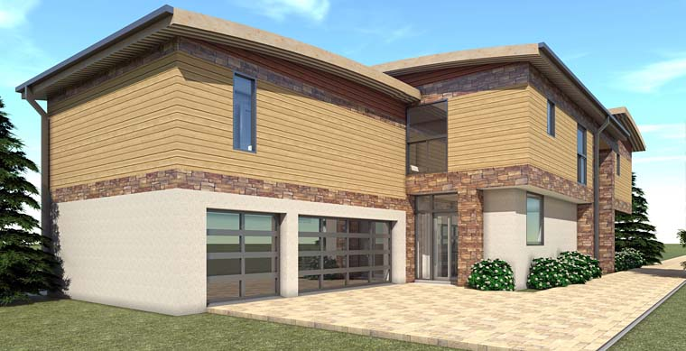Modern House Plan 70837 with 6 Beds, 7 Baths, 3 Car Garage Picture 1