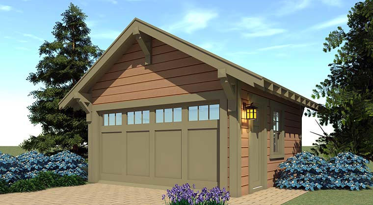 Bungalow, Country, Craftsman 2 Car Garage Plan 70841 Elevation