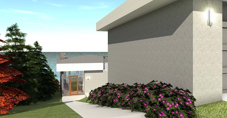 Modern House Plan 70843 with 2 Beds, 3 Baths, 2 Car Garage Picture 1
