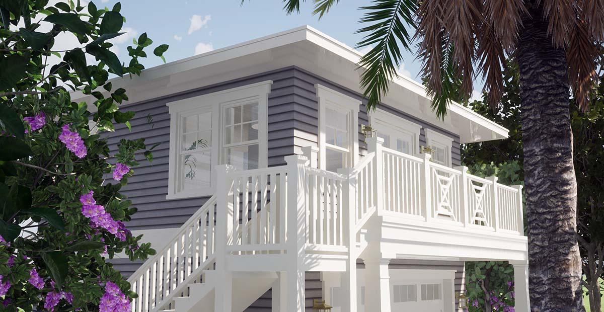 Coastal Garage-Living Plan 70858 with 1 Beds, 1 Baths, 2 Car Garage Picture 1