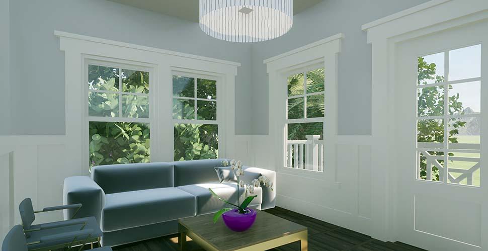 Coastal Garage-Living Plan 70858 with 1 Beds, 1 Baths, 2 Car Garage Picture 2