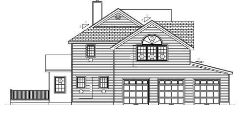 Cottage, Farmhouse House Plan 71900 with 4 Beds, 3 Baths, 3 Car Garage Picture 1