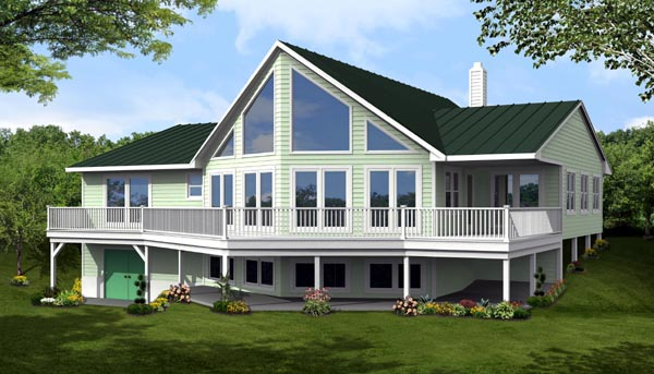 Cottage, Country House Plan 71910 with 3 Beds, 2 Baths Elevation