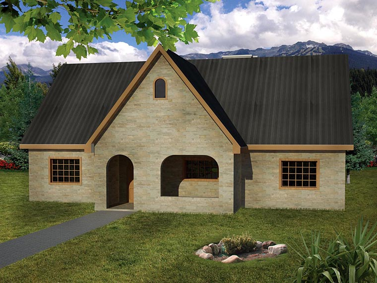 Cottage, Country, European, Ranch House Plan 71915 with 3 Beds, 2 Baths Elevation