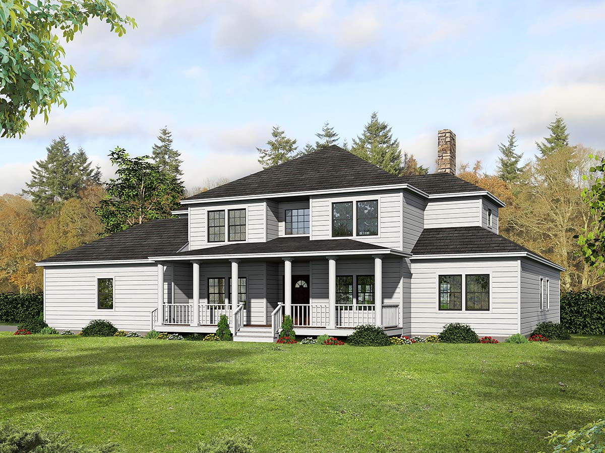 Country, Farmhouse, Traditional House Plan 71942 with 5 Beds, 5 Baths, 2 Car Garage Elevation