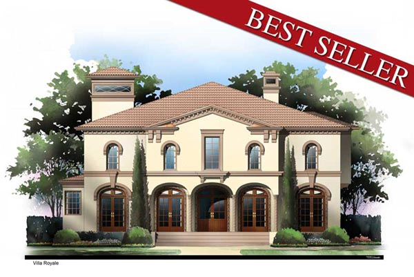 Greek Revival, Mediterranean House Plan 72095 with 4 Beds, 4 Baths, 3 Car Garage Elevation