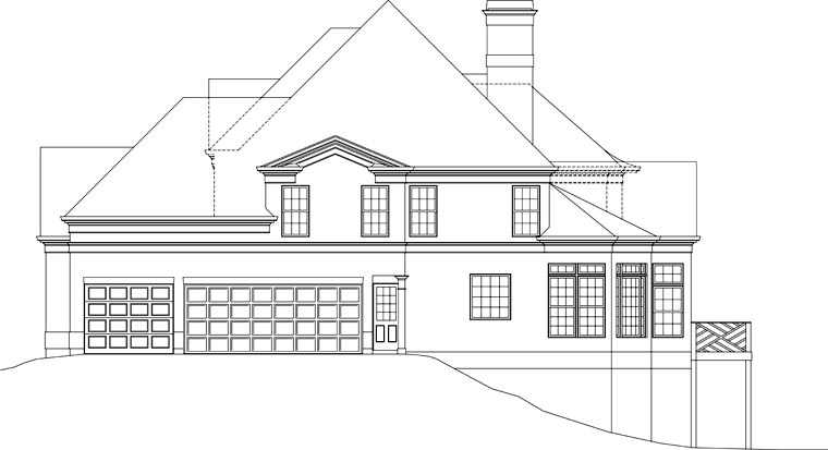 European, Greek Revival House Plan 72096 with 5 Beds, 5 Baths, 3 Car Garage Picture 1
