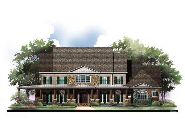 European, Greek Revival House Plan 72117 with 6 Beds, 7 Baths, 3 Car Garage Elevation