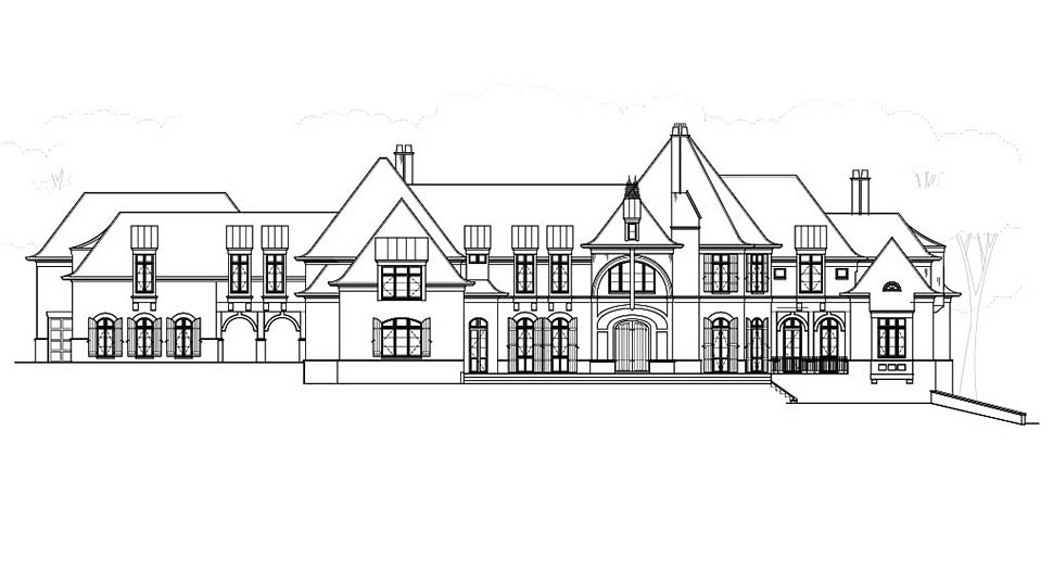 European, Greek Revival House Plan 72126 with 7 Beds, 9 Baths, 5 Car Garage Picture 3