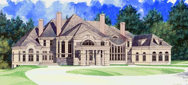 Colonial, Greek Revival House Plan 72129 with 5 Beds, 5 Baths, 4 Car Garage Front Elevation