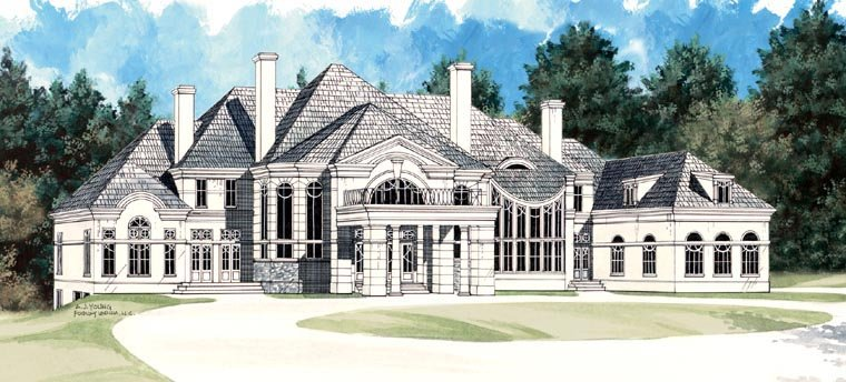 Colonial, Greek Revival House Plan 72129 with 5 Beds, 5 Baths, 4 Car Garage Picture 10