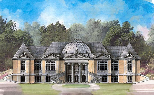 Colonial, Greek Revival House Plan 72131 with 5 Beds, 5 Baths, 4 Car Garage Elevation
