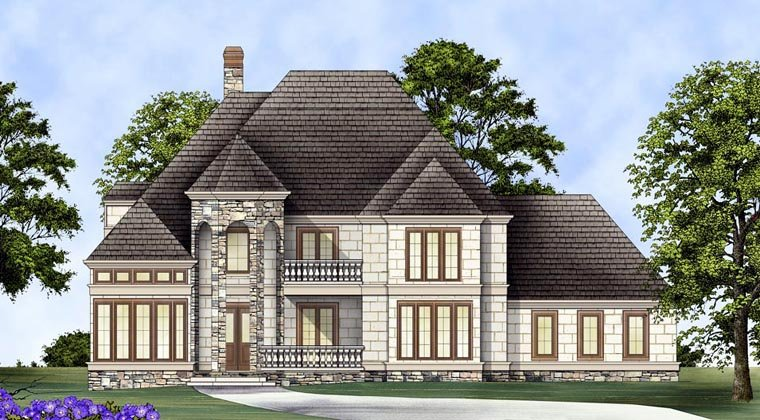 European, Greek Revival House Plan 72153 with 4 Beds, 4 Baths, 3 Car Garage Elevation