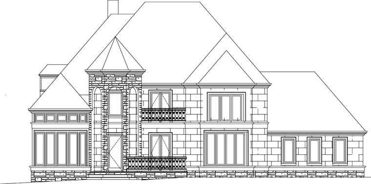 European, Greek Revival House Plan 72153 with 4 Beds, 4 Baths, 3 Car Garage Picture 3