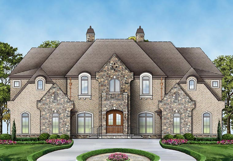 European, French Country House Plan 72171 with 6 Beds, 7 Baths, 4 Car Garage Front Elevation