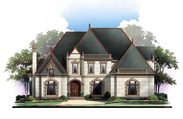 European, Greek Revival House Plan 72209 with 4 Beds, 3 Baths, 3 Car Garage Elevation