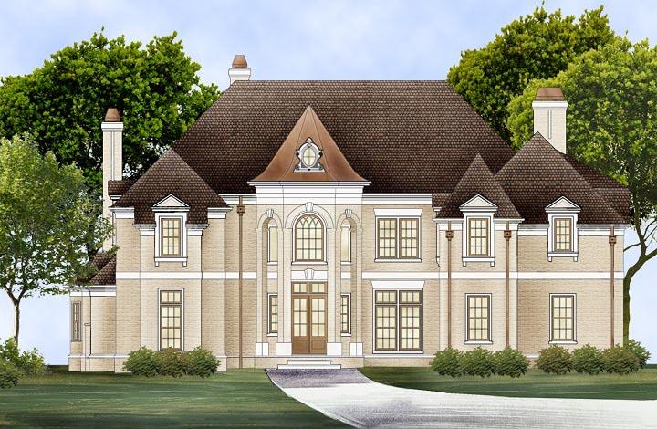 European, Greek Revival House Plan 72224 with 4 Beds, 6 Baths, 3 Car Garage Elevation