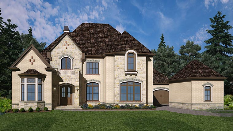 European House Plan 72227 with 4 Beds, 3 Baths, 3 Car Garage Elevation
