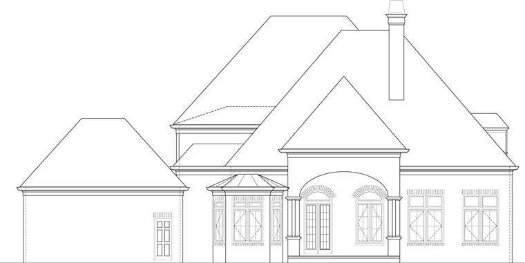 European House Plan 72227 with 4 Beds, 3 Baths, 3 Car Garage Picture 4