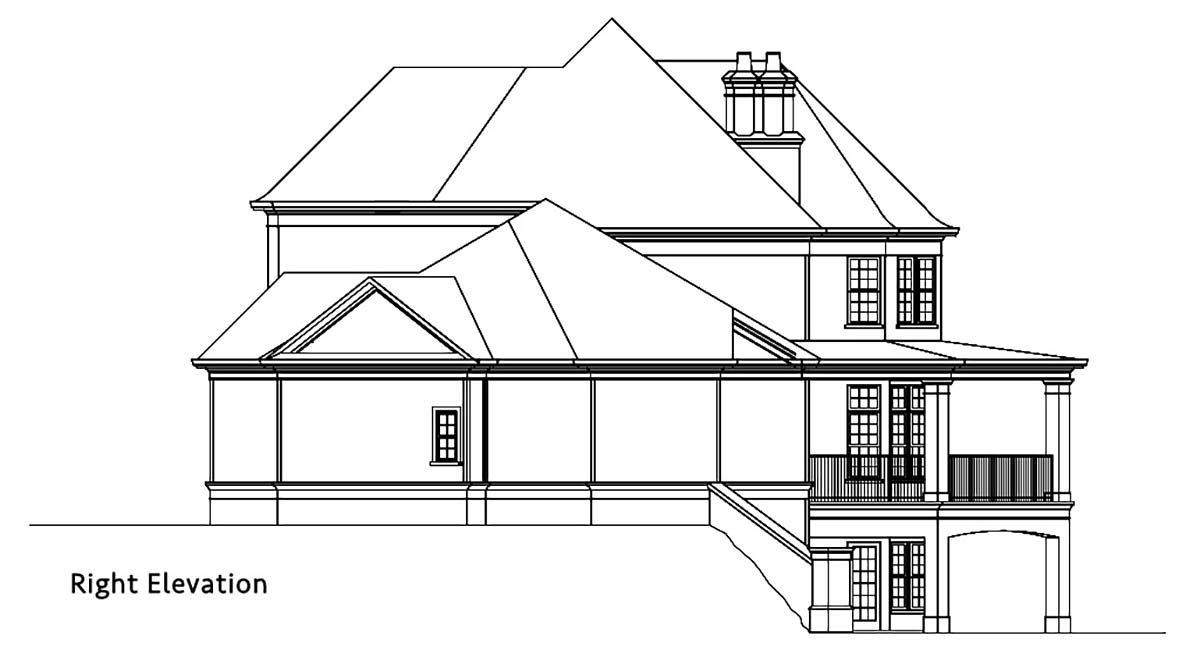 Country, European, French Country House Plan 72249 with 4 Beds, 5 Baths, 3 Car Garage Picture 1