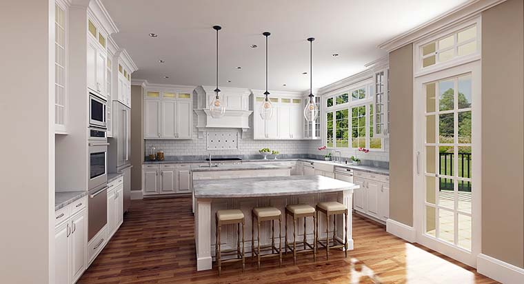 Country, European, French Country House Plan 72249 with 4 Beds, 4 Baths, 3 Car Garage Picture 3